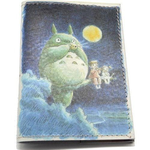 Кожаная обложка на паспорт. Тоторо (фото)