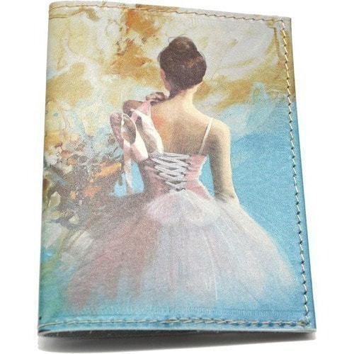 Кожаная обложка на паспорт. Балет (фото)