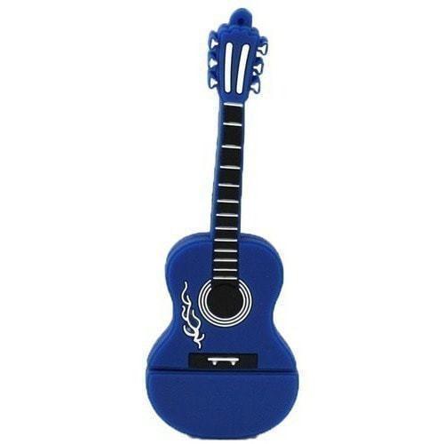 Подарочная флешка. Гитара. Цвет синий (фото)