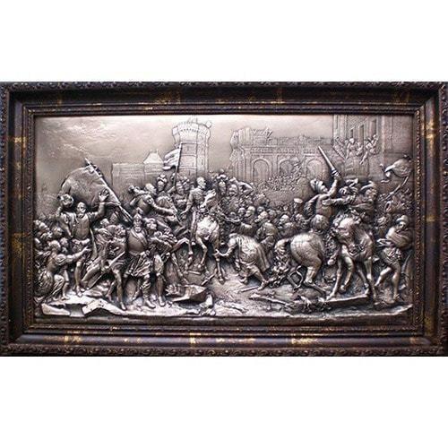 "Картина из металла ""Въезд Генриха 4 в Париж"" (36 х 56 см)"