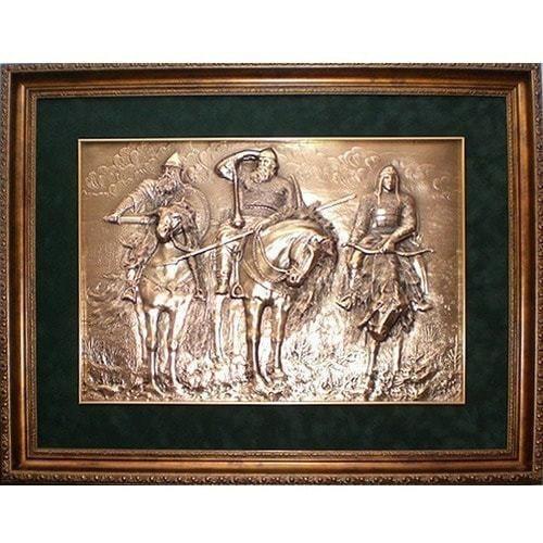 "Картина из металла ""Три богатыря"" (39 х 52 см)"