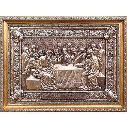 """Картина из металла """"Тайная вечеря"""" (58 х 43 см)"""