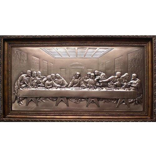 """Картина из металла """"Тайная вечеря"""" (33 х 58 см)"""