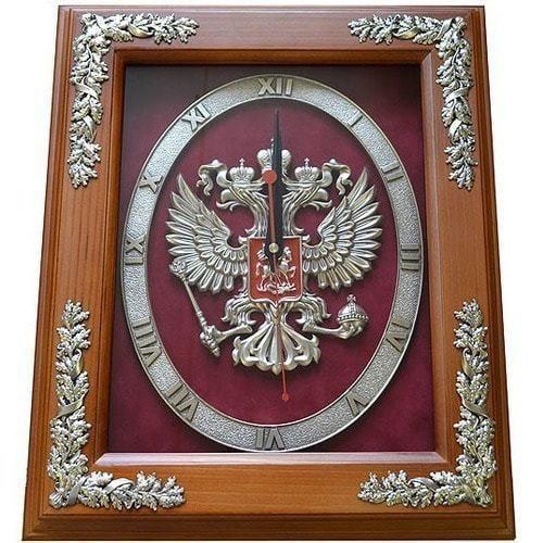 """Настенные часы """"Герб РОССИИ"""""""