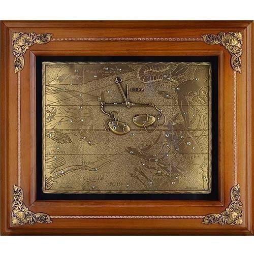 Панно из металла на стену. Знаки Зодиака. Весы (34 x 29 см) (фото)