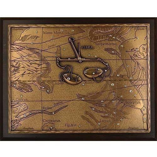 Панно из металла на стену. Знаки Зодиака. Весы (20 х 25 см) (фото)