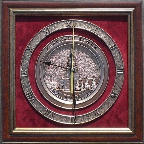 """Плакетка-часы """"Спасская башня"""" (35 х 35 см)"""