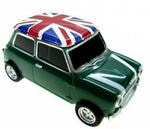 Подарочная флешка. Автомобиль Мини Купер (цвет зеленый)