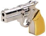 Подарочная металлическая флешка. Револьвер (цвет серебро-золото)