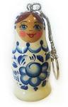 Подарочная деревянная флешка. Русская матрёшка (гжель)