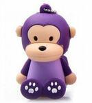Подарочная флешка. Обезьянка сидящая фиолетовая