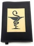 Подарочный ежедневник в кожаной обложке. Медицина - 2 (цвет черный)