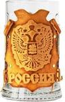 Подарочный бокал в кожаном футляре. «Россия»