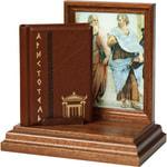 """Подарочный набор с миниатюрной книгой в кожаном переплете. Аристотель """"Афоризмы"""""""