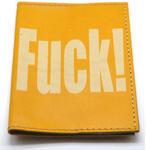 Кожаная обложка на паспорт. 18+ (цвет желтый)