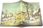 Кожаная обложка на паспорт. Зимний пейзаж