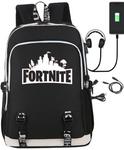 Рюкзак Fortnite с USB-портом для зарядки и разъемом для наушников