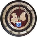 """Настенные часы """"Карта Ленинградской области"""" в подарочной упаковке"""