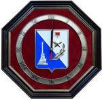 """Настенные часы """"Герб Севастополя"""" (34 х 34 см)"""