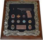 Панно с пистолетом Макаров и знаками ГРУ (44 х 40 см)