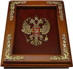 Деревянная ключница с гербом России настенная