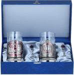 Подарочный набор c 2-мя подстаканниками в шкатулке (6 предметов). Мудрый руководитель и Герб СССР