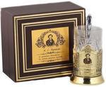 Подарочный набор c латунированным подстаканником в футляре (3 предмета). Чайная классика. Пушкин