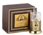 Подарочный набор c латунированным подстаканником в футляре (3 предмета). Чайная классика. Есенин