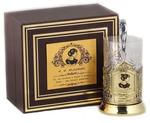 Подарочный набор c латунированным подстаканником в футляре (3 предмета). Чайная классика. Ахматова