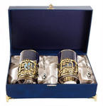 Подарочный набор c 2-мя подстаканниками в шкатулке (6 предметов). Газпром и трубопровод