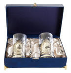 Подарочный набор c 2-мя подстаканниками в шкатулке (6 предметов). Мудрый руководитель и Прибыли и процветания