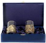 Подарочный набор c 2-мя подстаканниками в шкатулке (6 предметов). Охота на Кабана и Охота на Медведя
