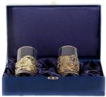 Подарочный набор c 2-мя подстаканниками в шкатулке (6 предметов). Охота и Рыбалка