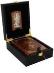 Подарочный набор с книгой в кожаном переплете. Молитвослов с иконой Ангел Хранитель