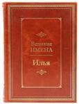 Подарочная книга в кожаном переплете. Великие имена. Илья