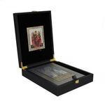 Подарочный набор с книгой в кожаном переплете. Православная энциклопедия с иконой