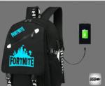 Рюкзак Fortnite флюрисцентный с USB-портом для зарядки и разъемом для наушников