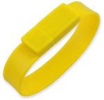 Подарочная силиконовая флешка. Браслет (цвет желтый)