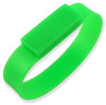 Подарочная силиконовая флешка. Браслет (цвет зеленый)