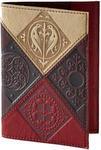 Кожаная обложка на паспорт. Средневековый   Коричневый