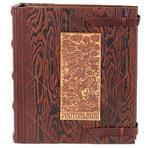 Подарочный большой фотоальбом из натуральной кожи. Семейное Древо | Коричневый