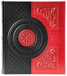 Подарочный большой фотоальбом из натуральной кожи. Венеция | Красный