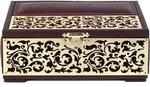 Маленькая шкатулка из натуральной кожи. Книга (цвет коричневый)