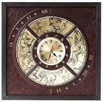 Настенные часы из натуральной кожи. Созвездия