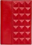 Кожаная обложка для автодокументов. Геометрия | Красный