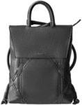 Рюкзак большой из натуральной кожи (цвет черный)