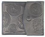 Кожаный зажим для денег. Монетный двор | Синий