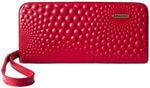 Портмоне из натуральной кожи. Bubbles | Красный