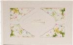 Подарочный малый фотоальбом из натуральной кожи. Цветы | Слоновая кость