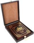 Книга в кожаном переплете и подарочном коробе. Памятники Москвы